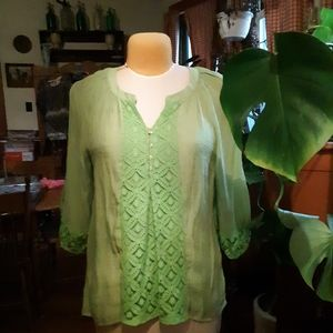 Chartreuse Green Top
